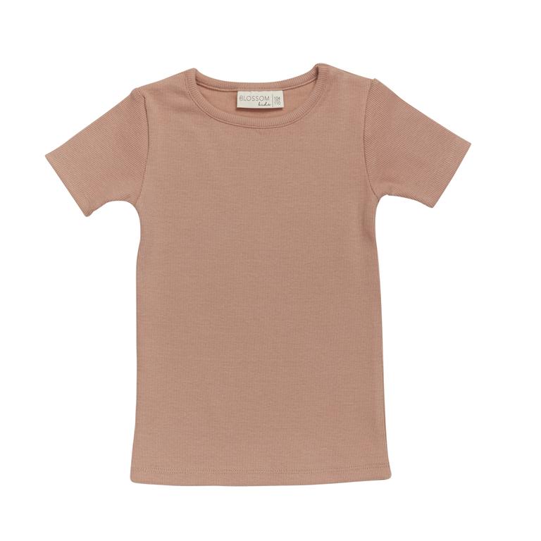 T-shirt s/sl soft rib - Toffee Blush-1