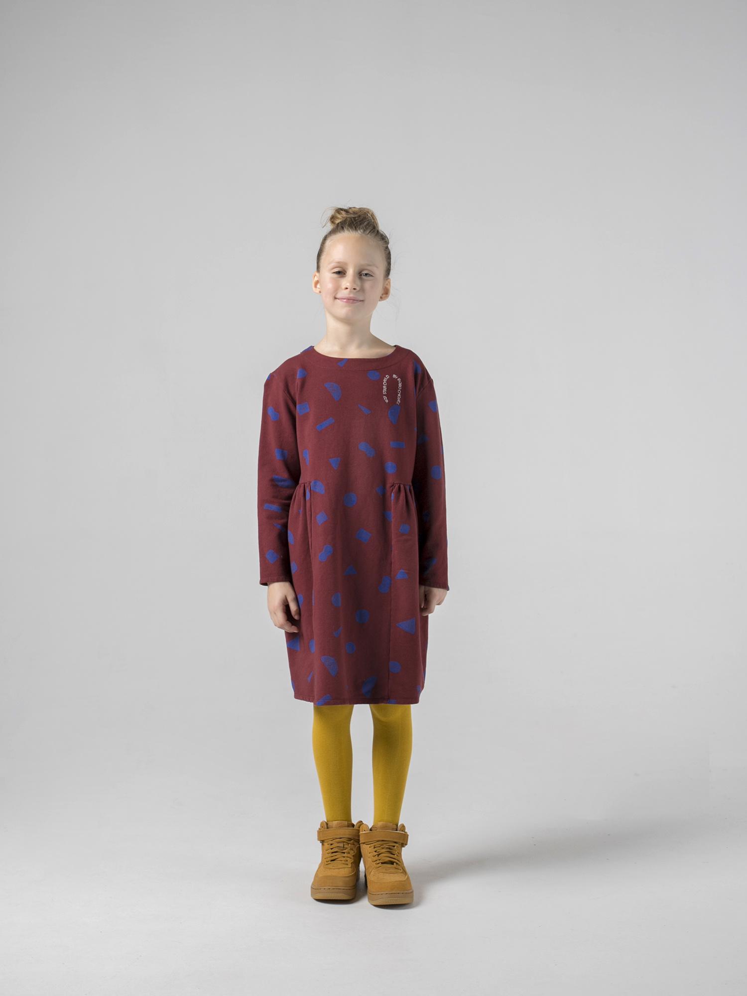 All Over Stuff Fleece Dress-2