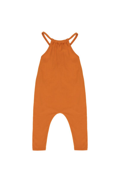 Gathered jumpsuit - Tangerine