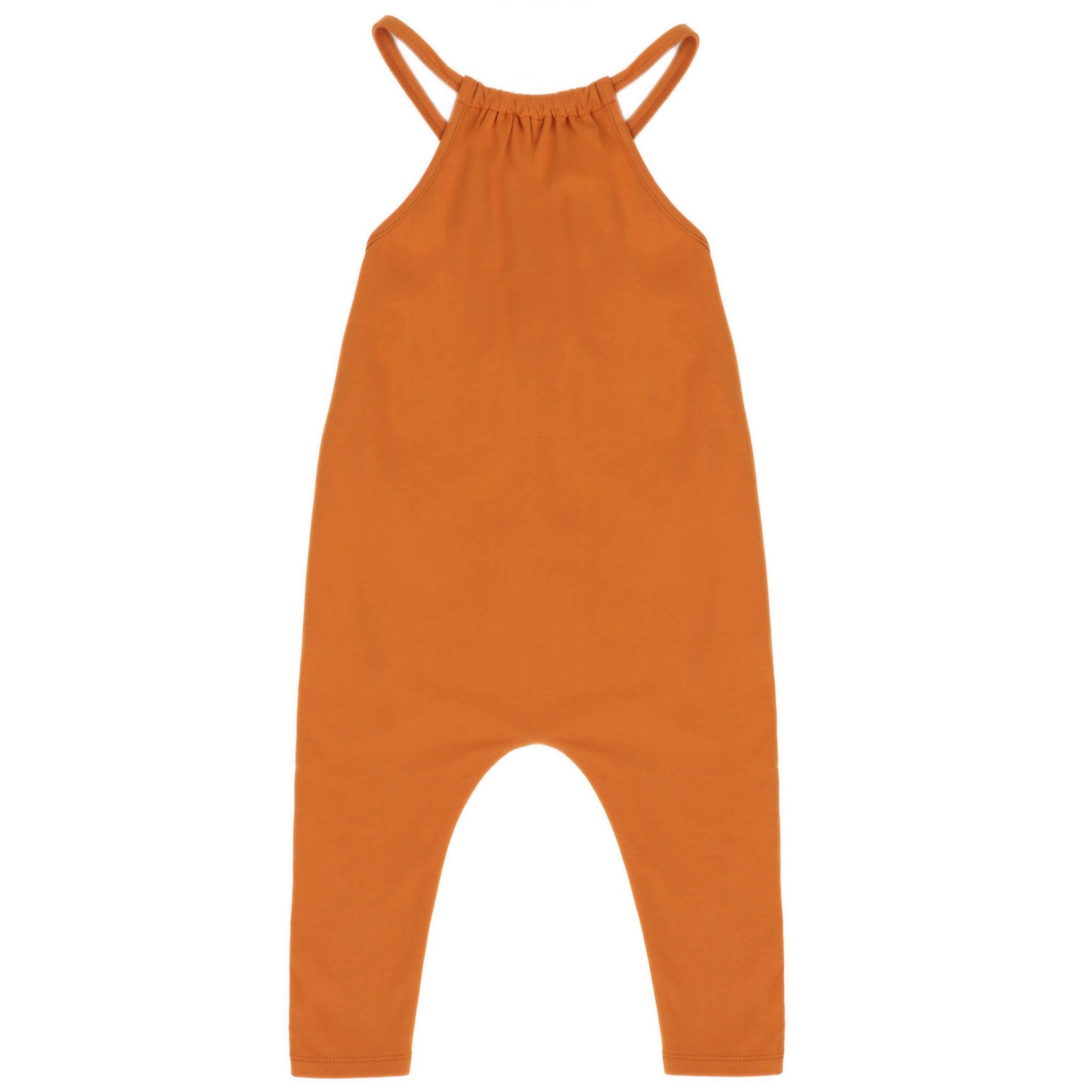 Gathered jumpsuit - Tangerine-1