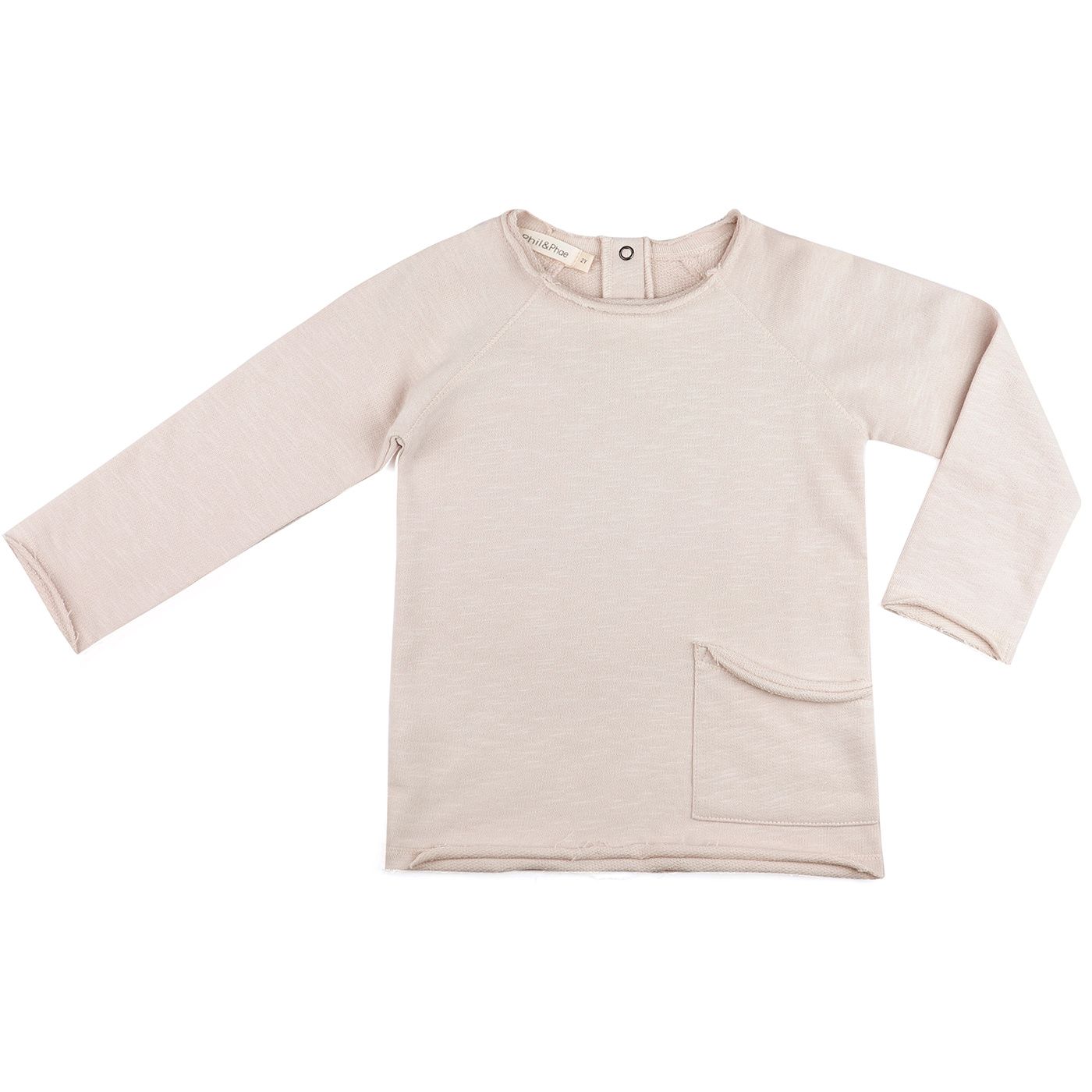 Raw edged sweater - Oatmeal-1