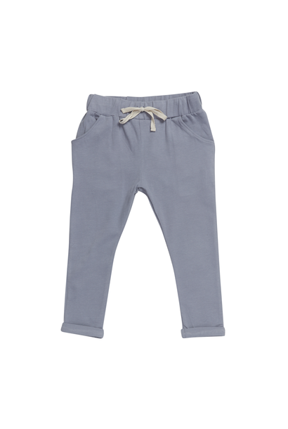 Strap cord joggers - Blue Grey