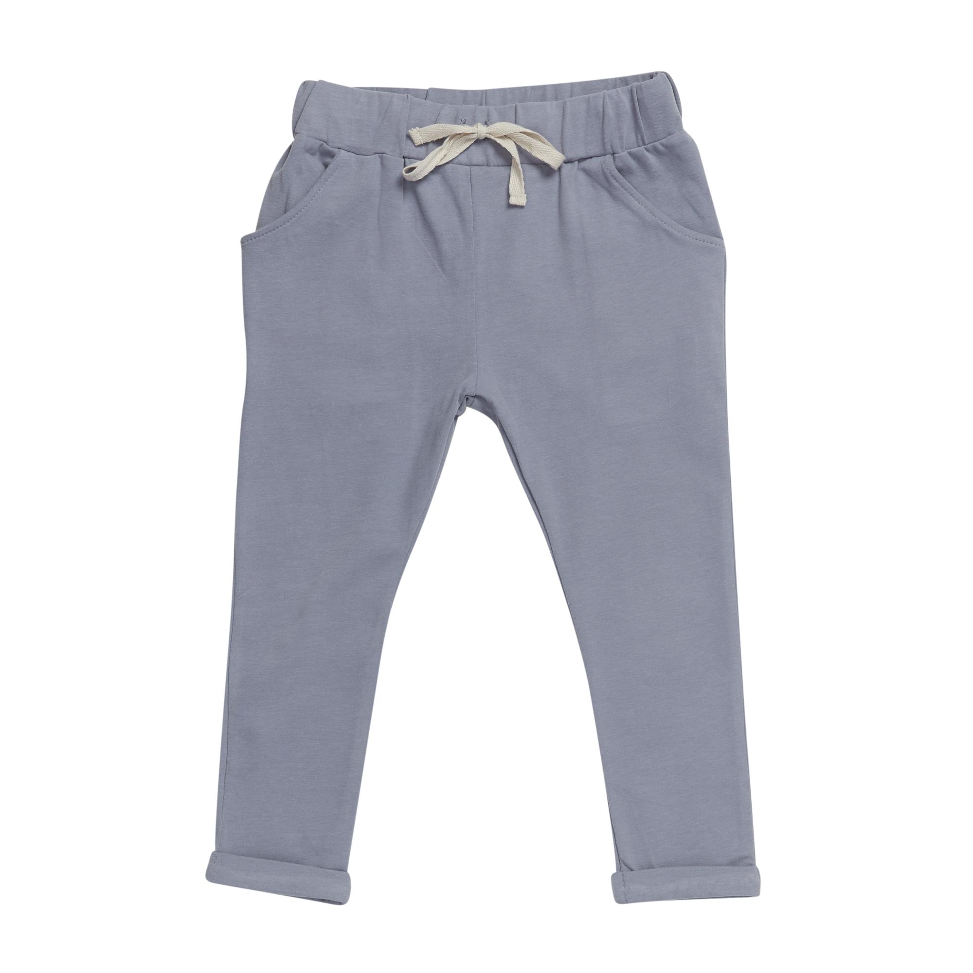 Strap cord joggers - Blue Grey-1