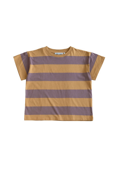 Boxy Tee - Oak Bull Stripe