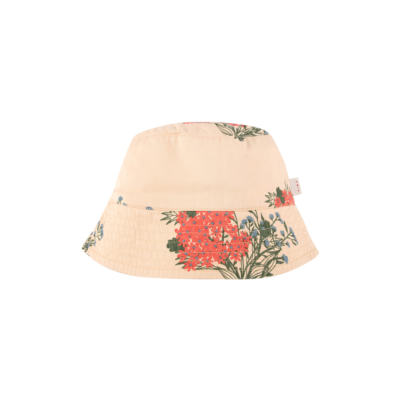 FLOWERS BUCKET HAT - Cappuccino / Red-1