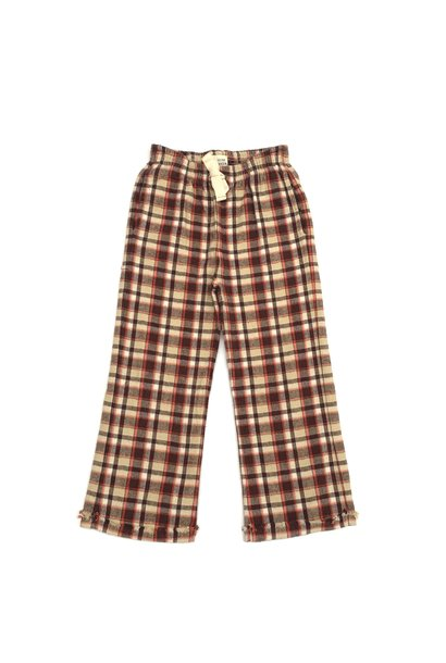 Check pants - Orange Check