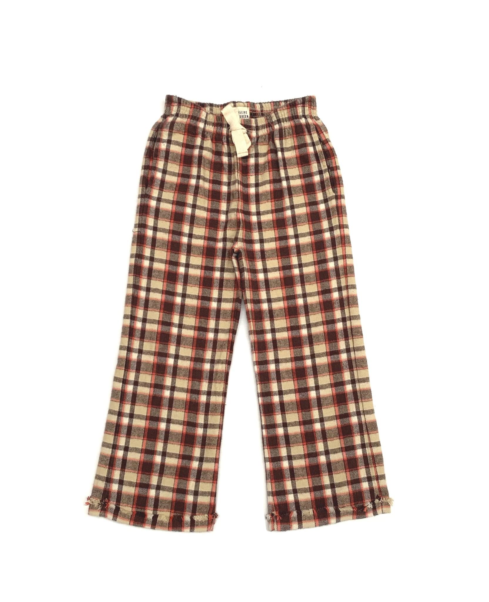 Check pants - Orange Check-1