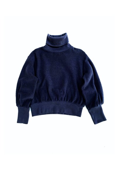 Terry collsweater - Navy