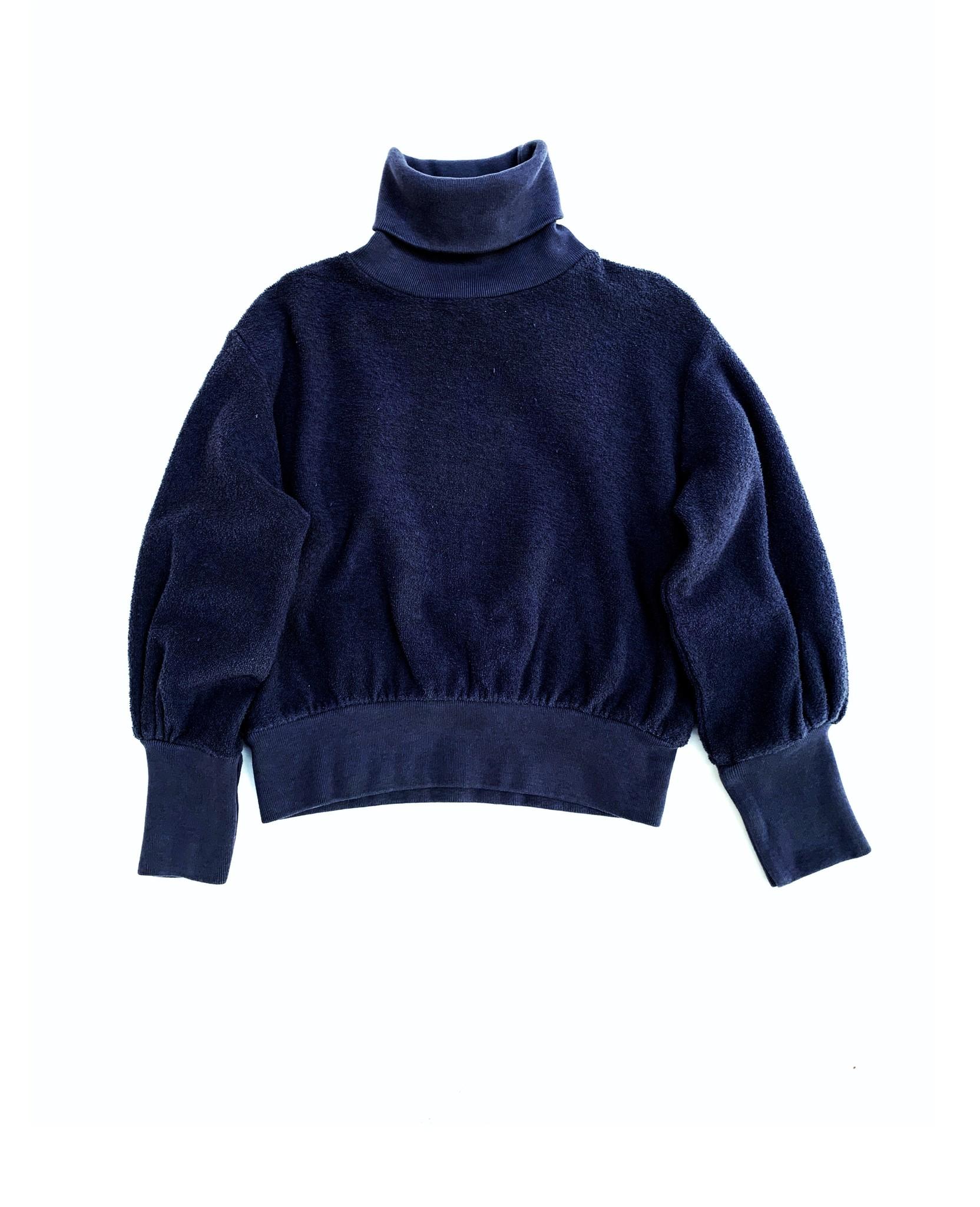 Terry collsweater - Navy-1
