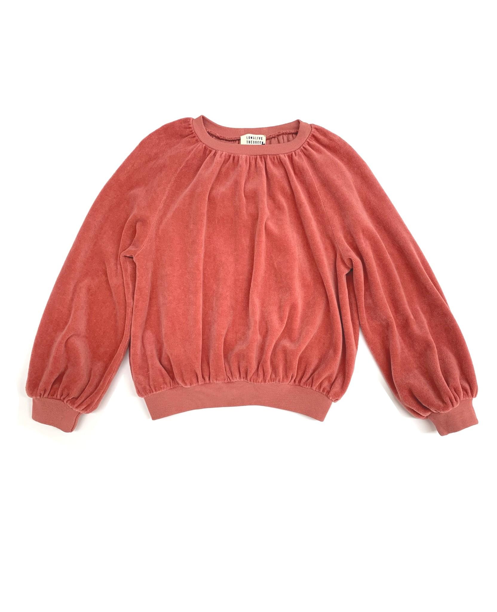 Velvet sweater - Dustyrose-1