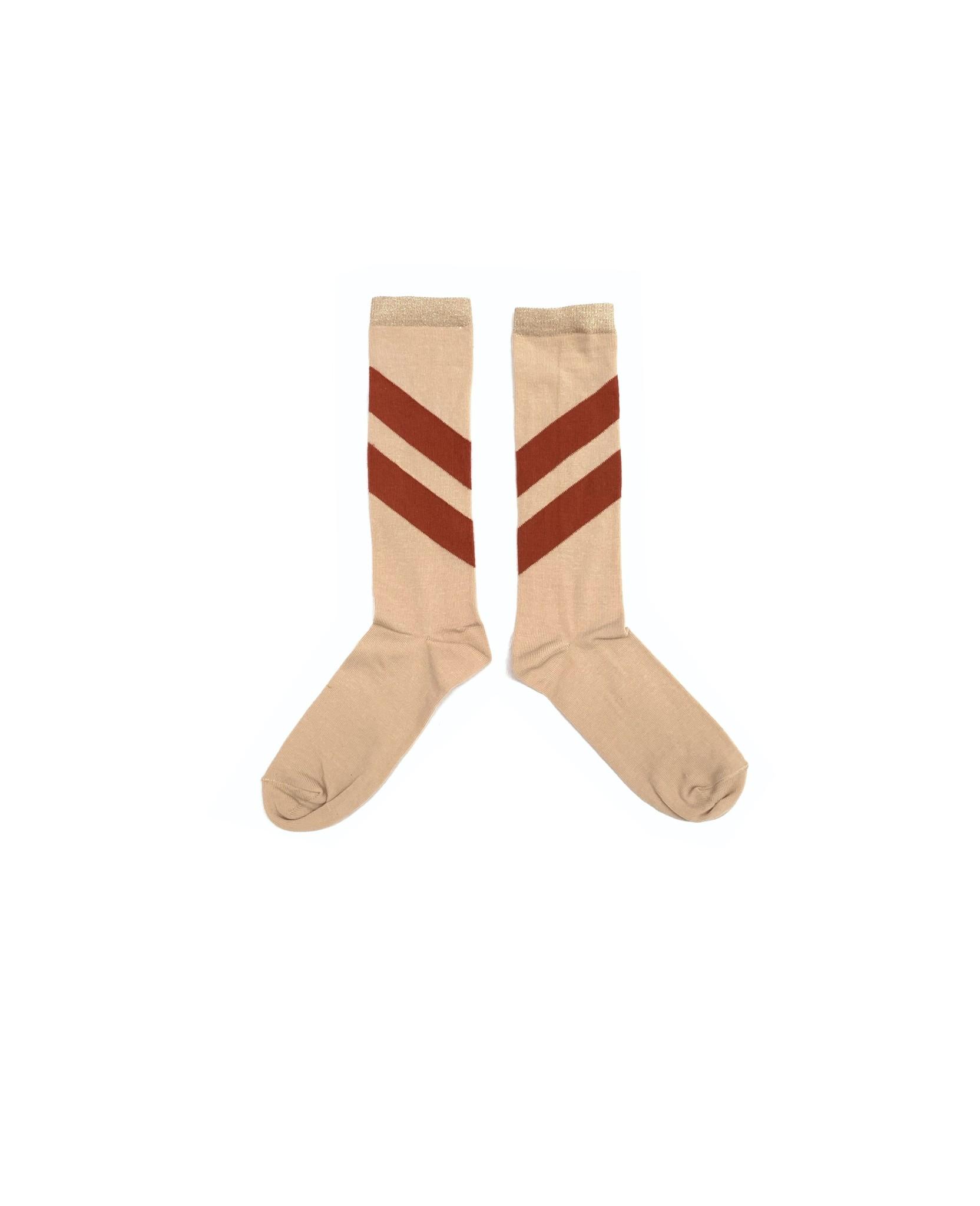 Striped socks - Natural-1