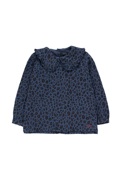 Animal print shirt - Light Navy / Dark Brown