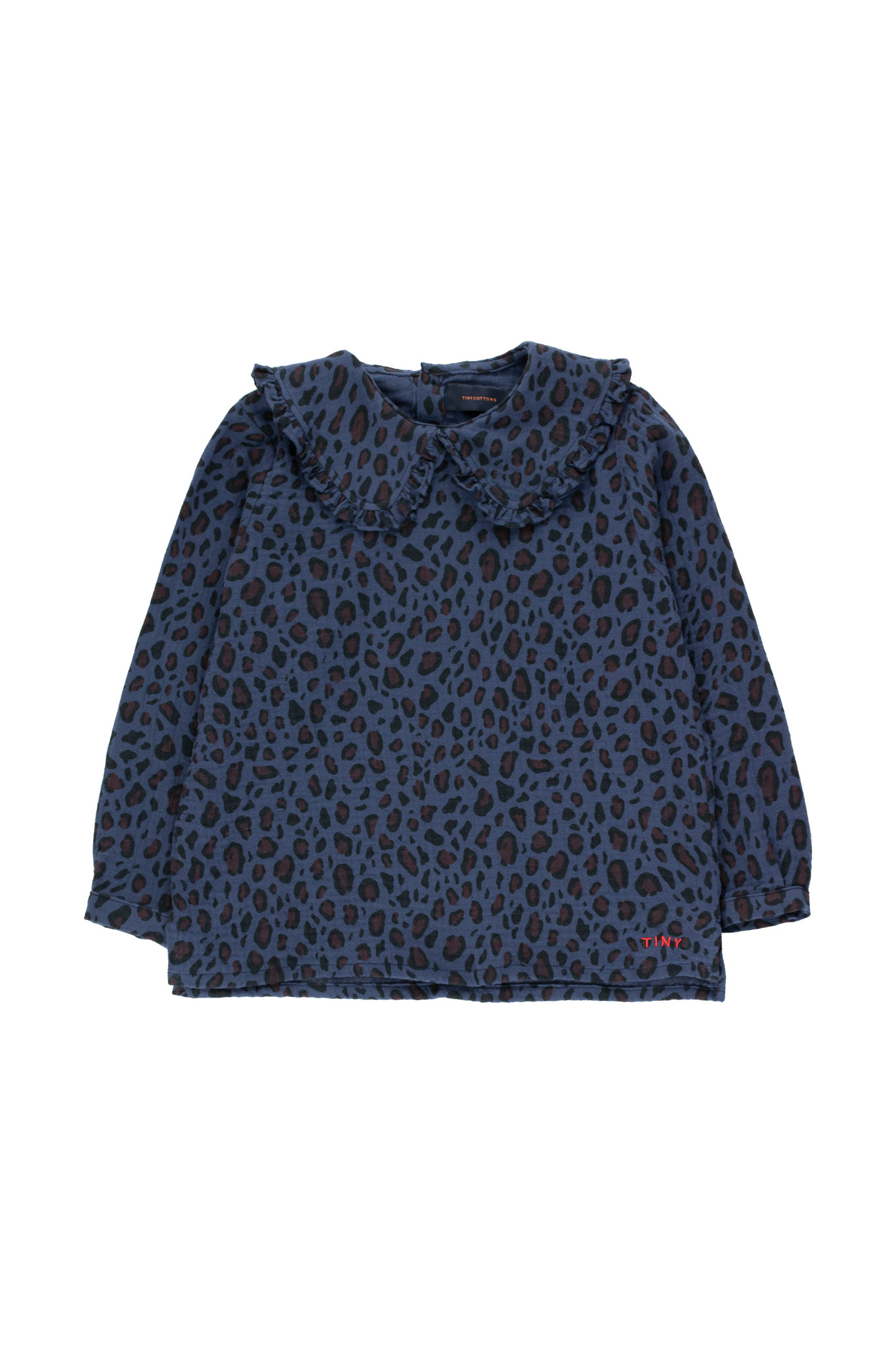 Animal print shirt - Light Navy / Dark Brown-1