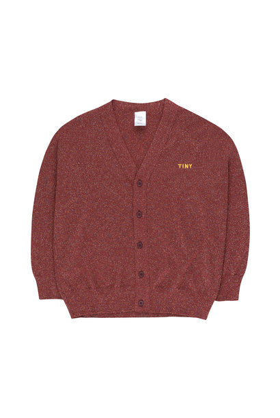 Shiny cardigan - Burgundy
