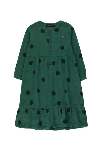 Big dots dress - Dark Green / Black