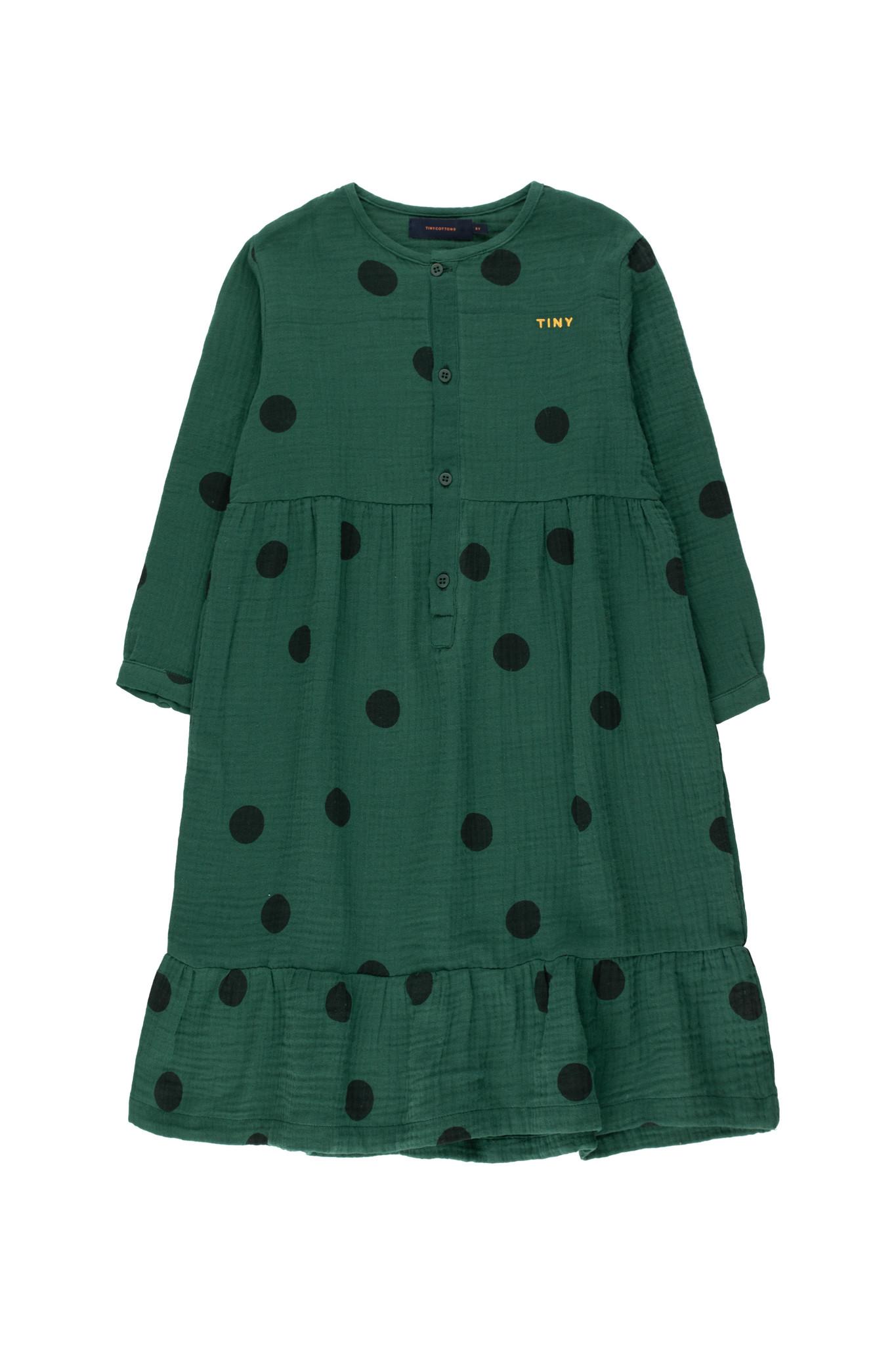 Big dots dress - Dark Green / Black-1