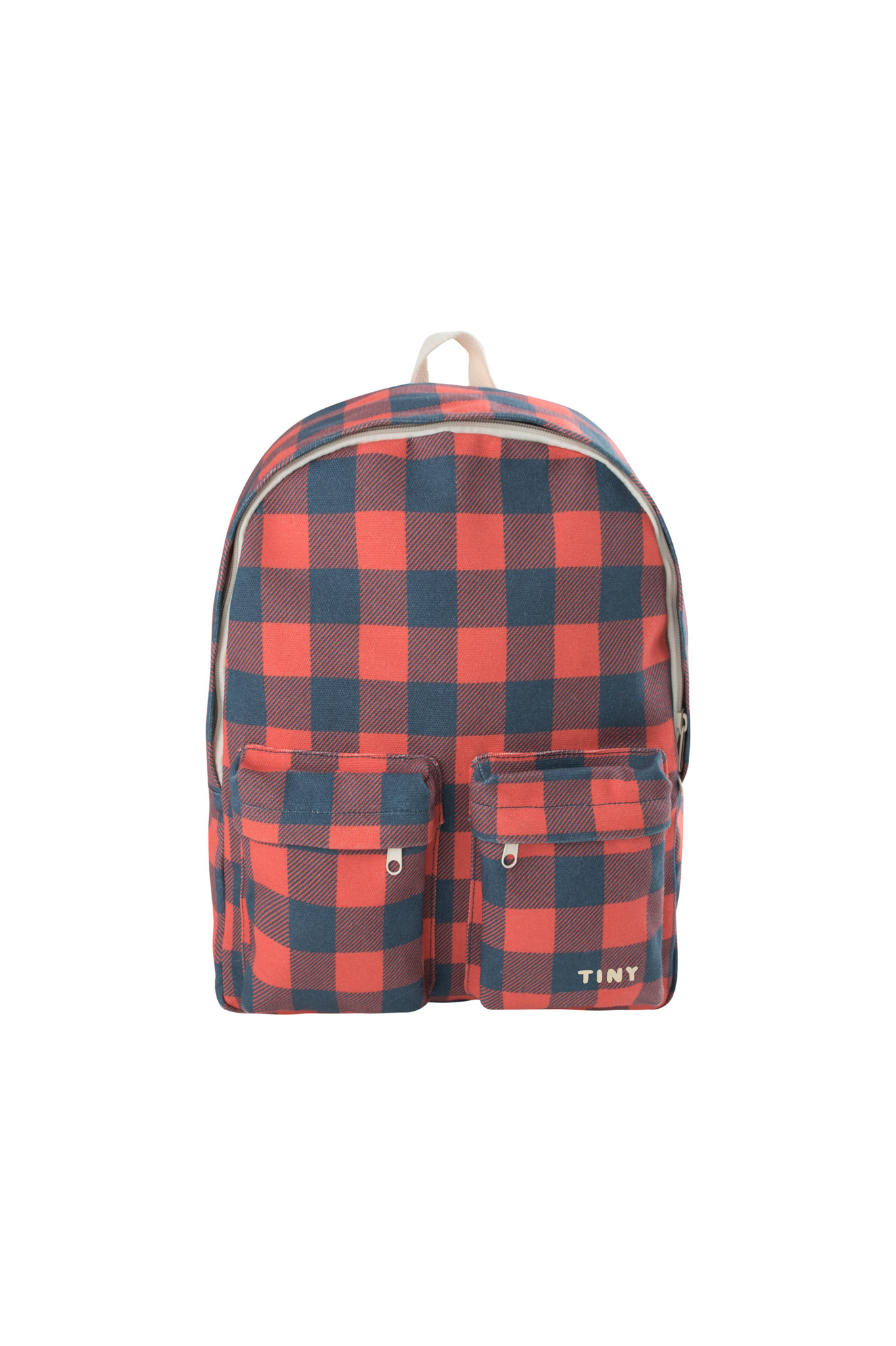 Check big Backpack / Navy Red-1