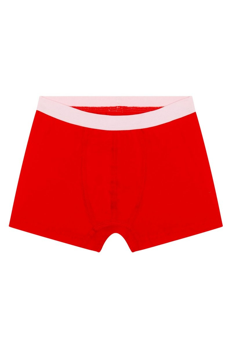 Jongens hemd + boxershort - Rood-4