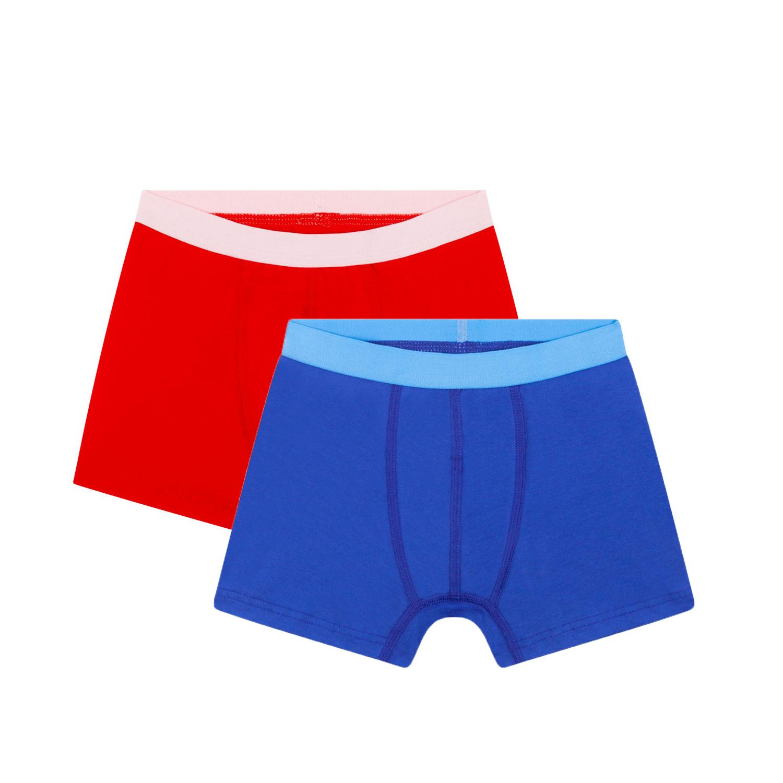 2-pack jongens boxershorts - Rood / Blauw-1