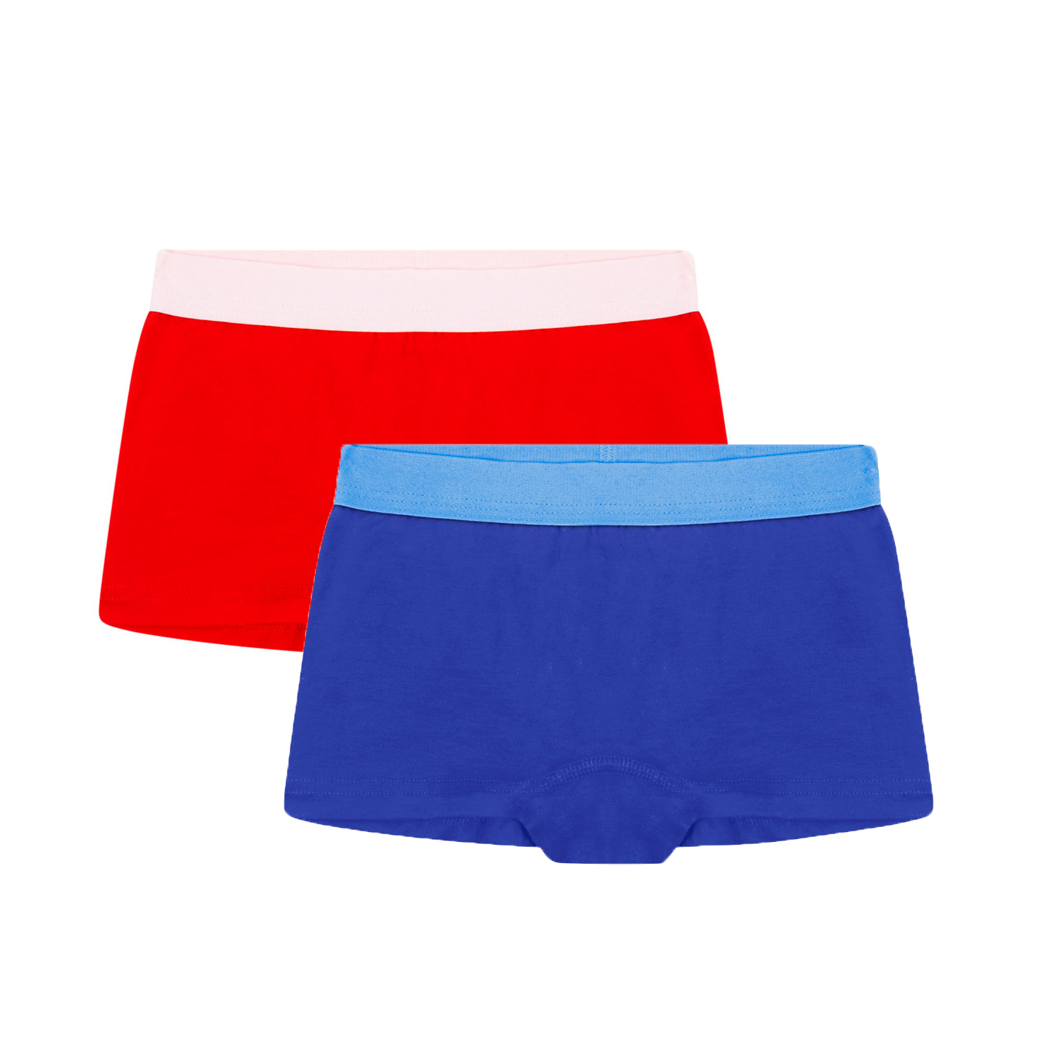 2-pack meisjes hipsters - Rood / Blauw-1