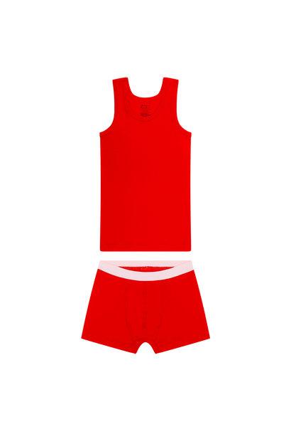 Jongens hemd + boxershort - Rood
