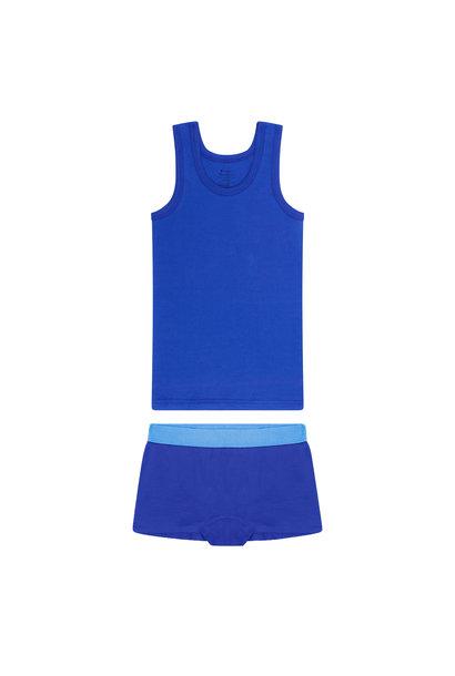 Meisjes hemd + hipster - Blauw