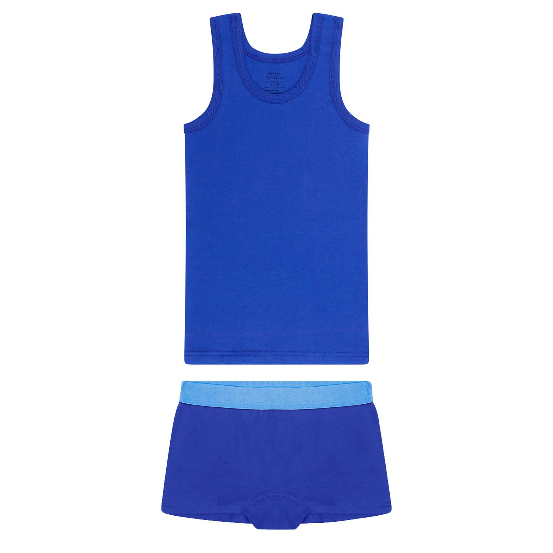 Meisjes hemd + hipster - Blauw-1