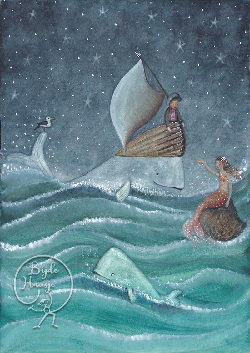 Ansichtkaart - Walvissen & zeemeerminnen-1