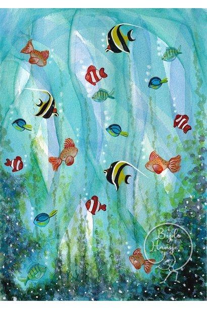Ansichtkaart - Vissen