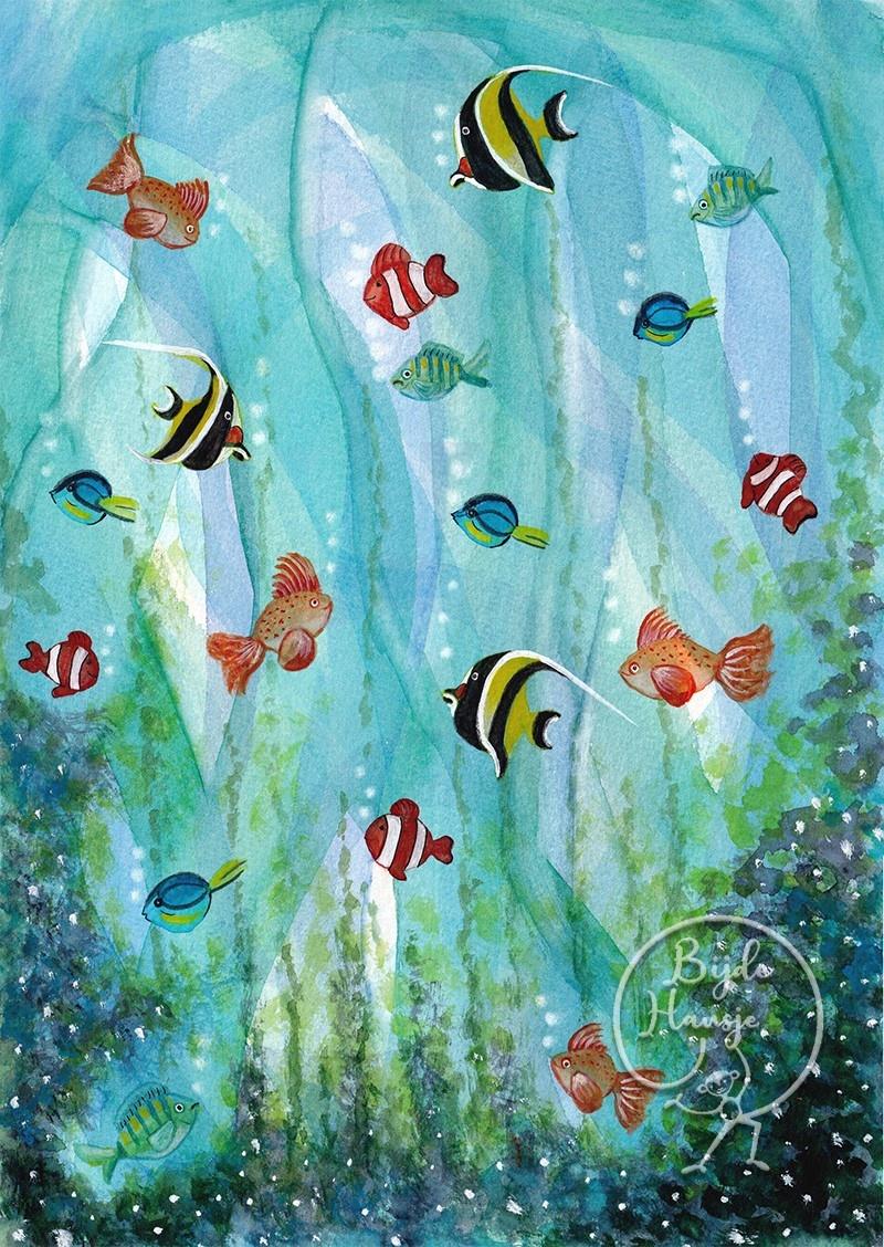 Ansichtkaart - Vissen-1