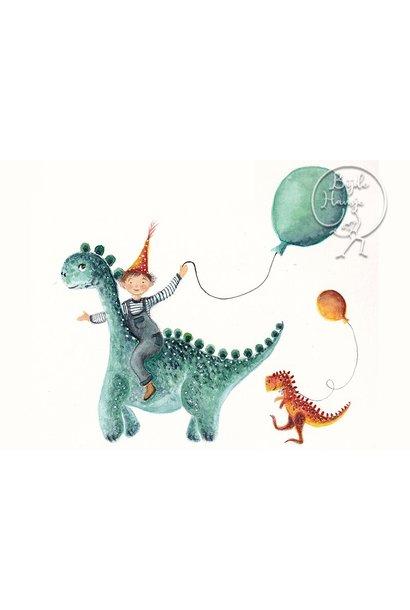 Ansichtkaart - Dino parade