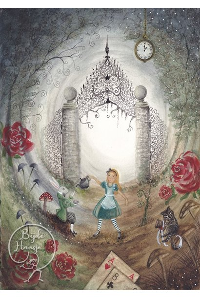 Ansichtkaart - Alice in Wonderland