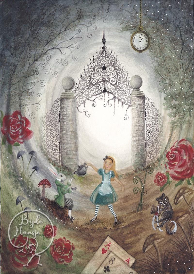 Ansichtkaart - Alice in Wonderland-1