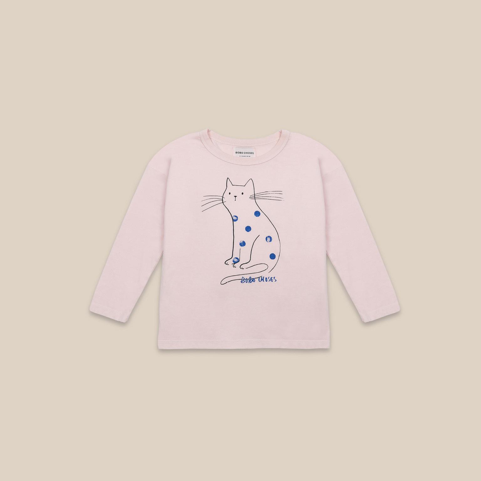 Cat Long Sleeve T-shirt-1