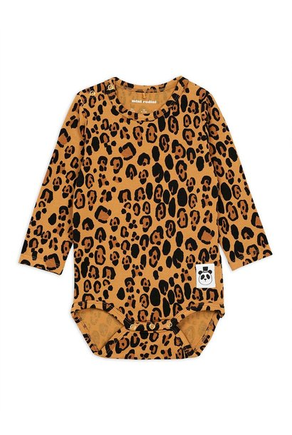 Basic Leopard l/sl body - Beige