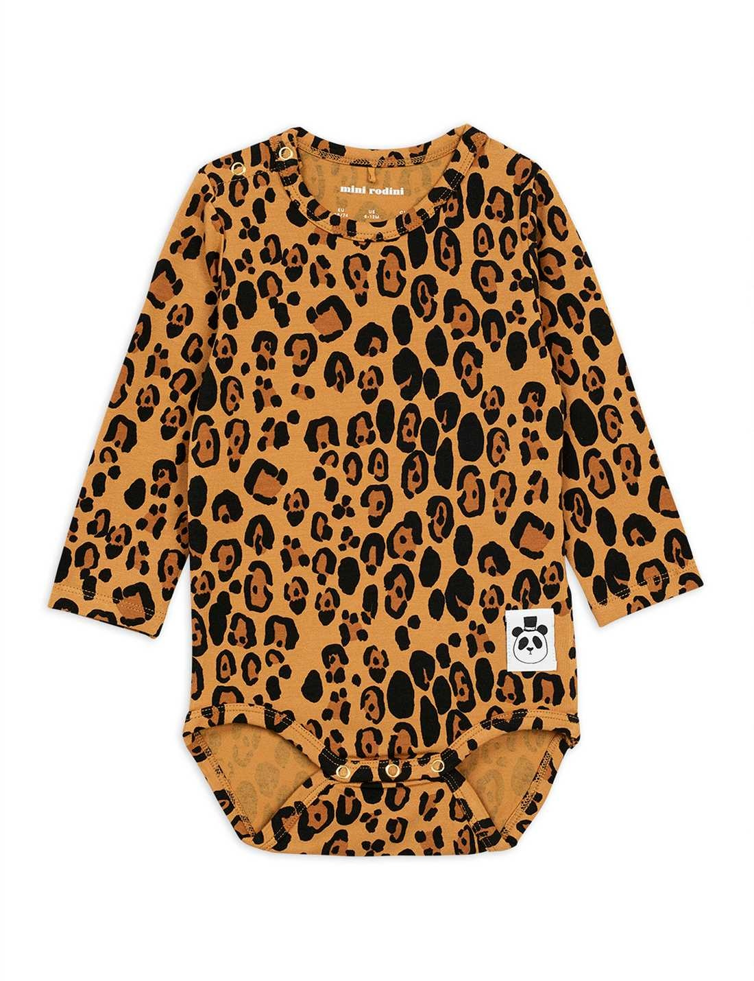 Basic Leopard l/sl body - Beige-1