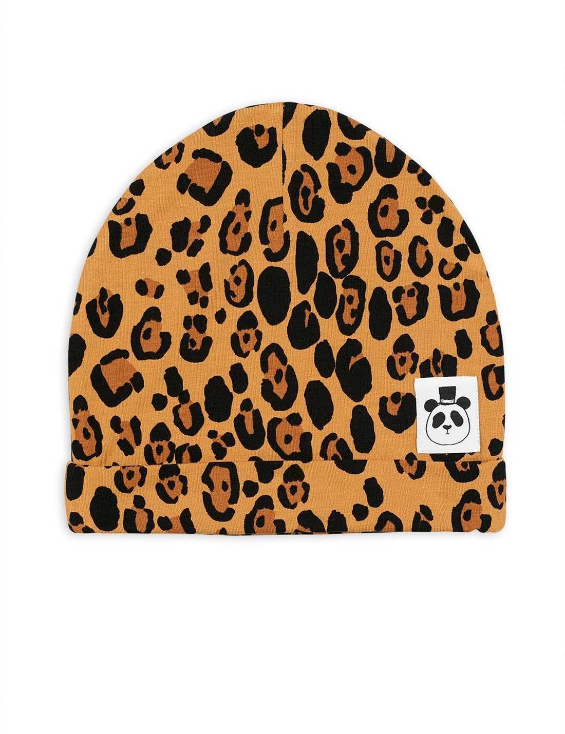 Basic Leopard beanie - Beige-1
