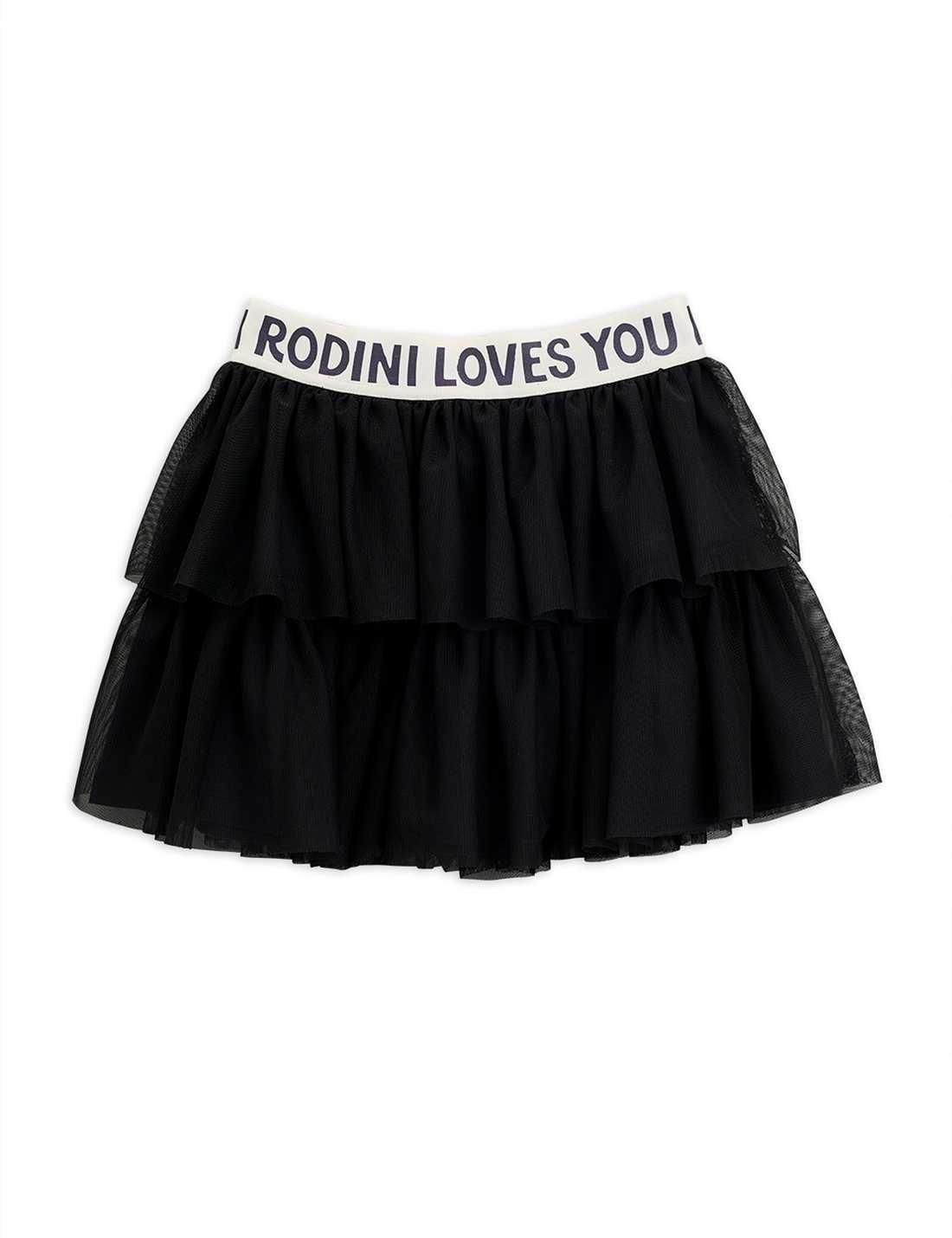 Tulle skirt - Black-1