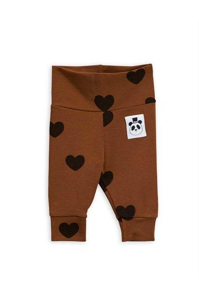 Hearts nb leggings - Brown