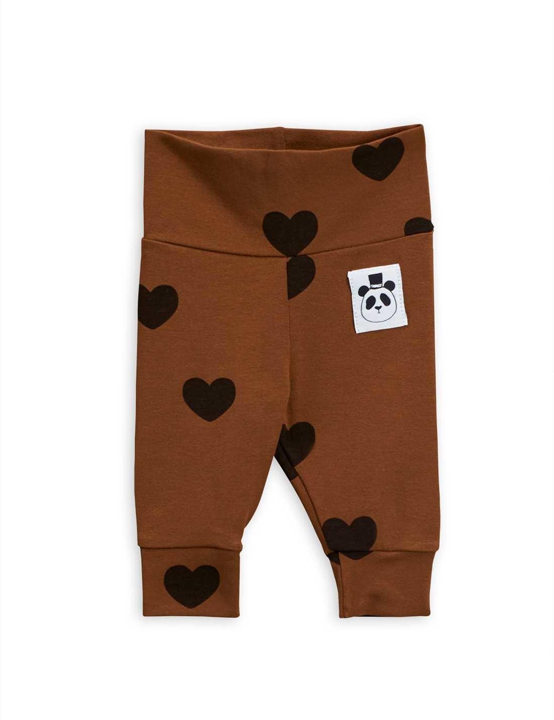 Hearts nb leggings - Brown-1