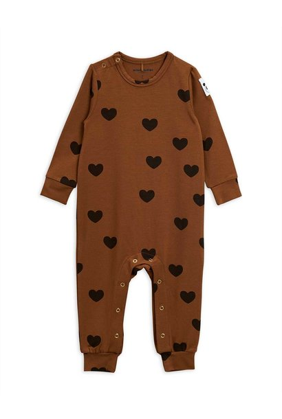 Hearts jumpsuit - Brown