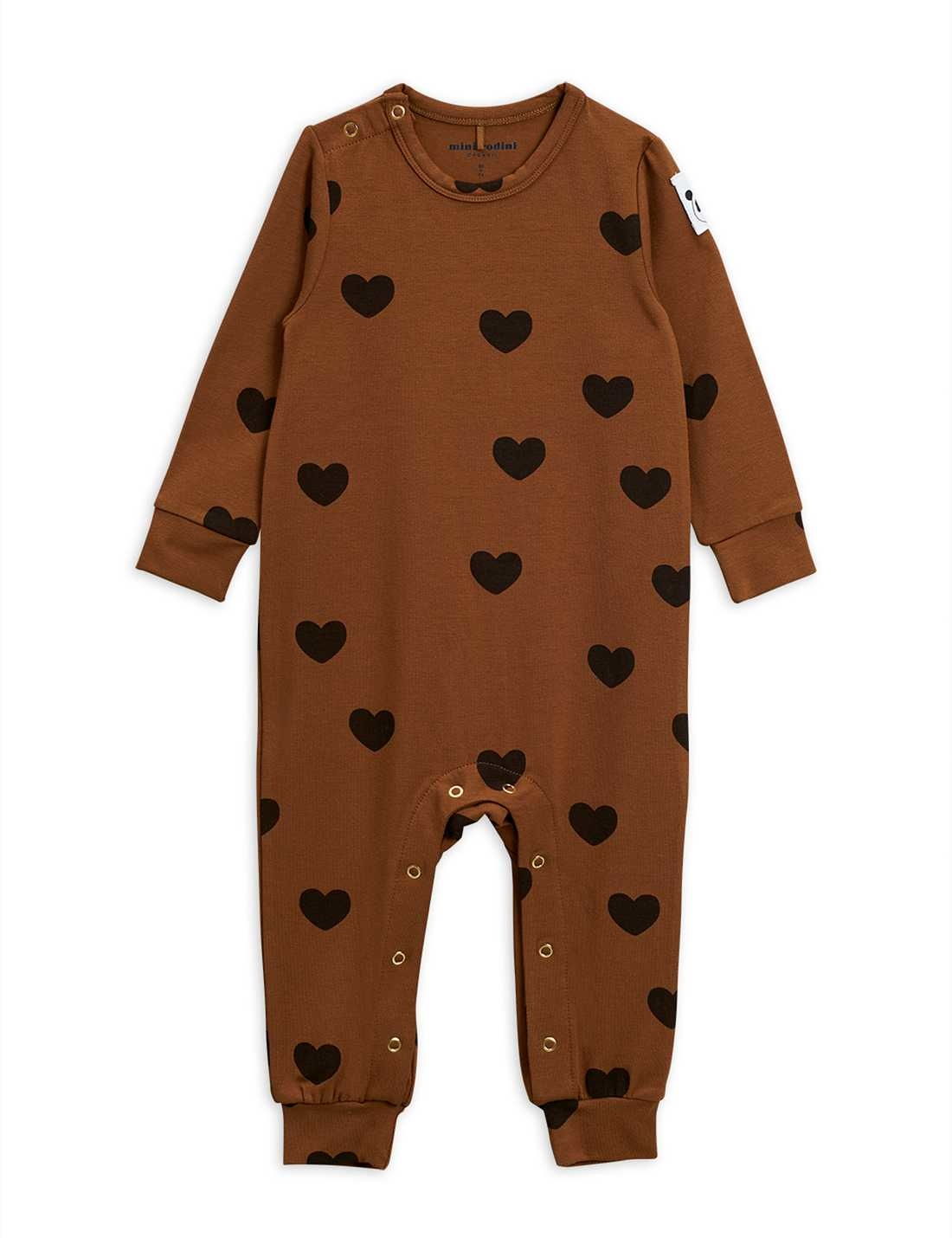 Hearts jumpsuit - Brown-1