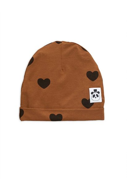 Hearts beanie - Brown