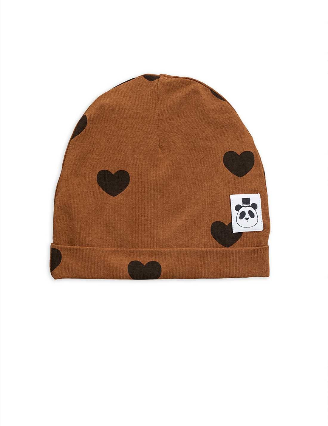 Hearts beanie - Brown-1