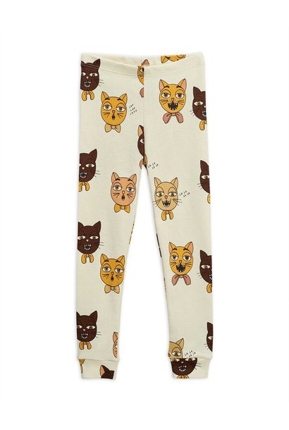 Cat choir AOP leggings - Offwhite
