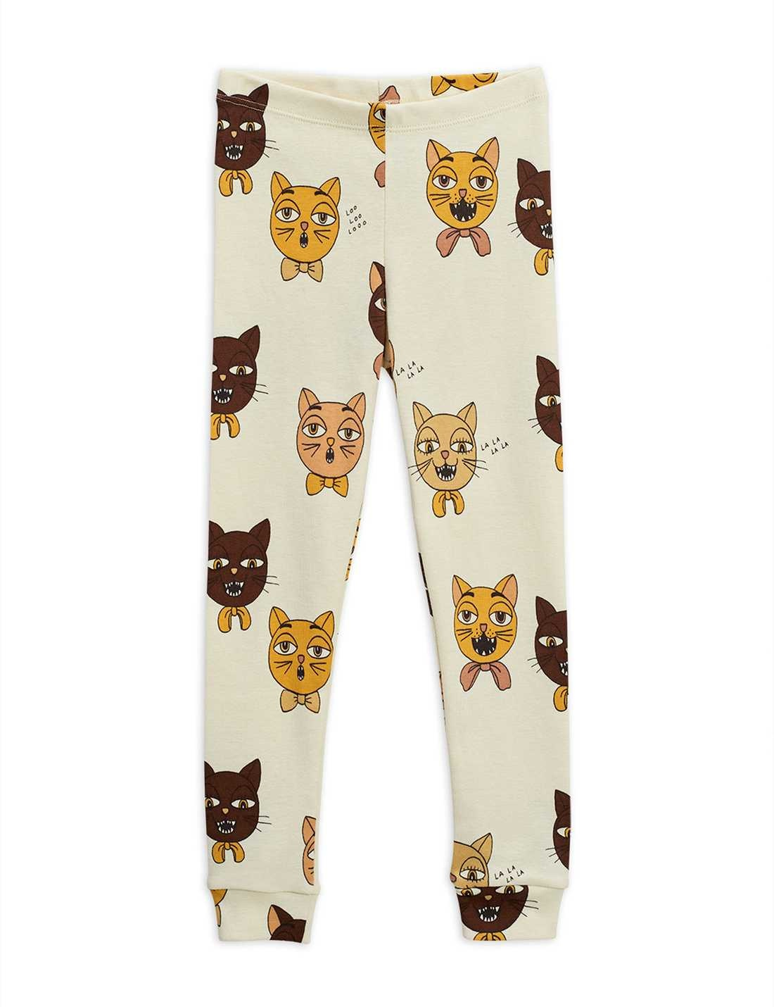 Cat choir AOP leggings - Offwhite-1