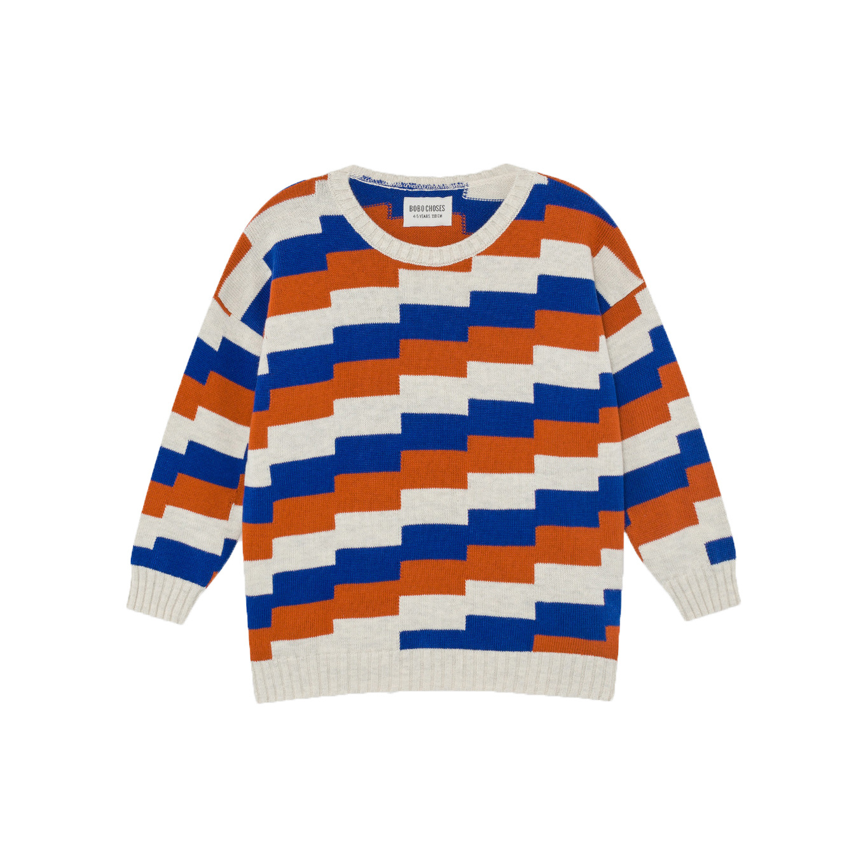 Geometric Knitted Jumper-1