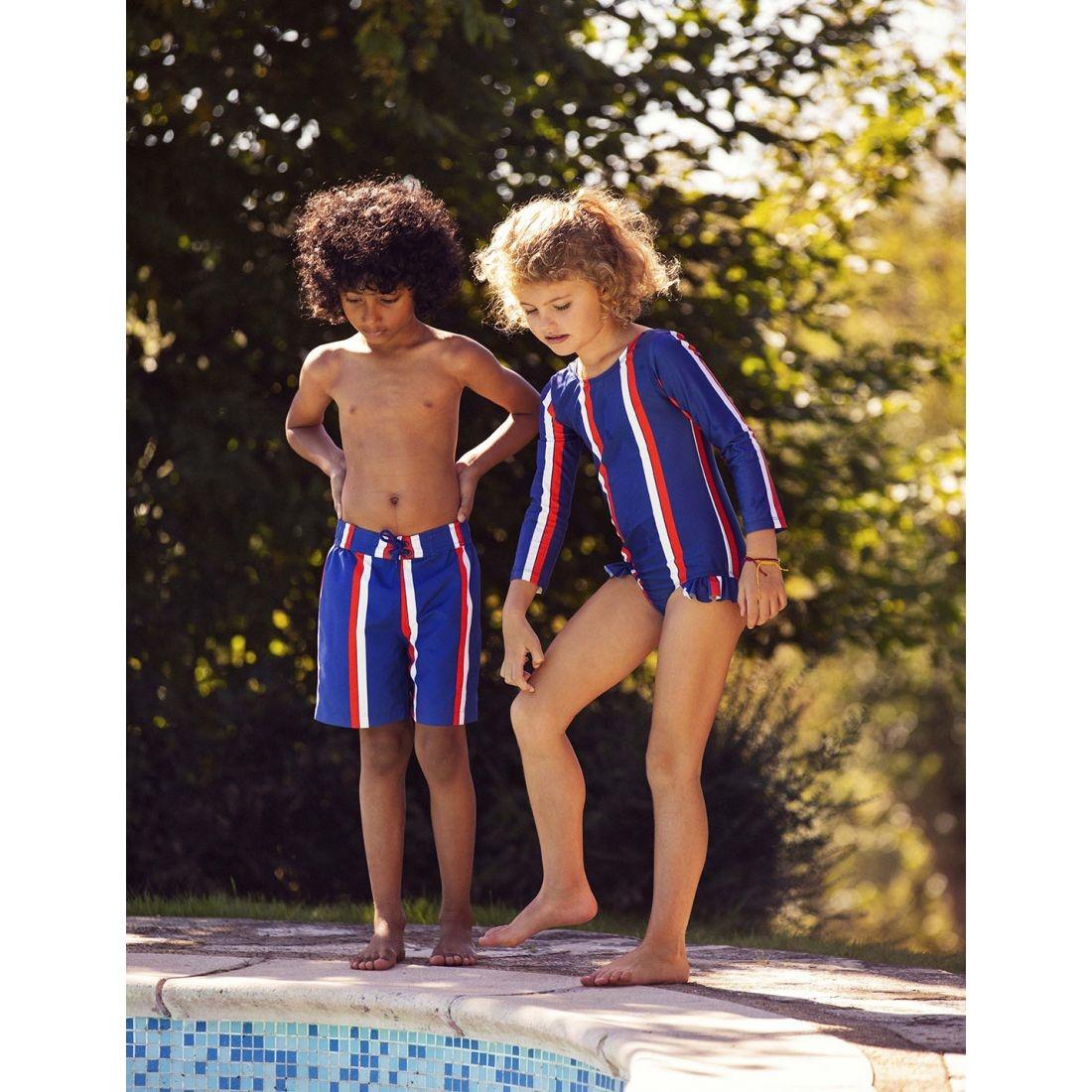 Stripe swimshorts - Blue-2