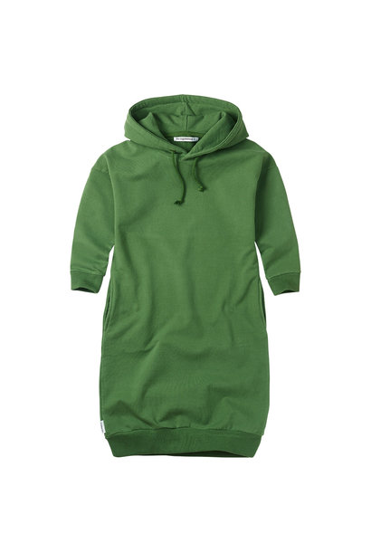 Sweater dress hoodie - Moss Green