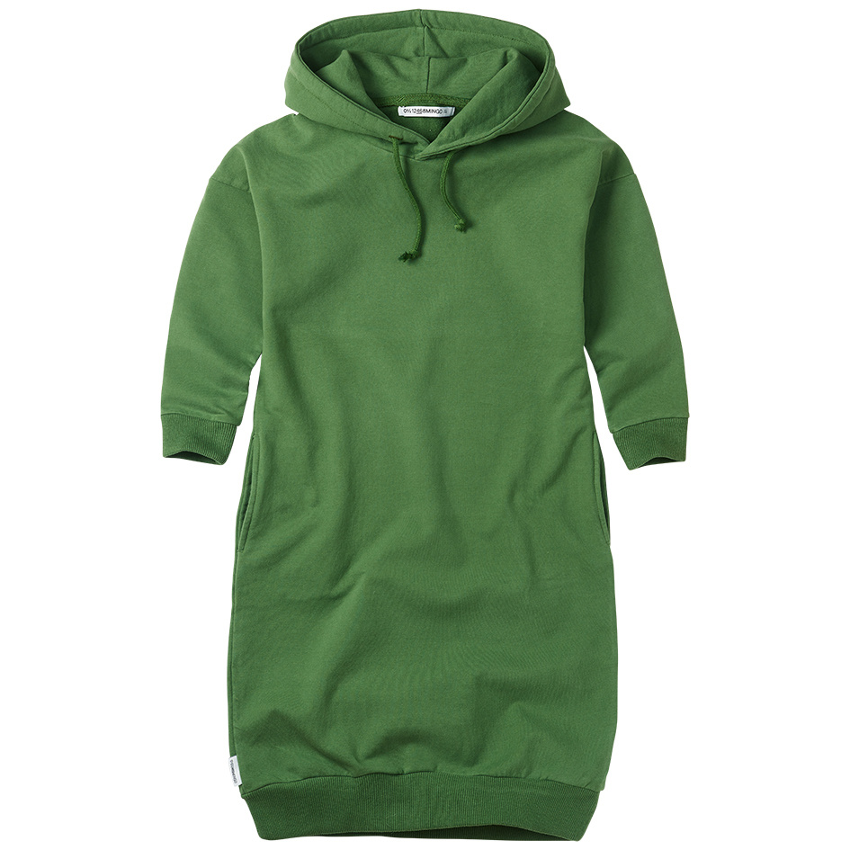 Sweater dress hoodie - Moss Green-1